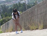 Outdoor fuck with sexy Asian teen Kitano Nozomi picture 3