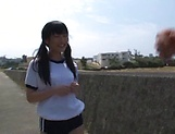 Outdoor fuck with sexy Asian teen Kitano Nozomi picture 4