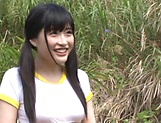 Outdoor fuck with sexy Asian teen Kitano Nozomi picture 9