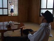 Hotaka Yuka shows her super blowjob skills