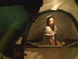 Hot Asian milf Yuri Shirai sucks dick and gets fingered in a tent