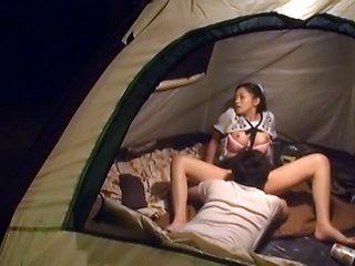Yuri Shirai naughty Asian babe gives outdoor blowjob
