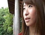 Sexy Japanese AV model enjoys outdoor sex date picture 11