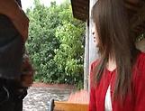 Sexy Japanese AV model enjoys outdoor sex date picture 12