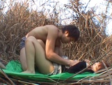 Great fuck in nature with Asian babe Akane Mochida picture 12