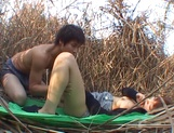 Great fuck in nature with Asian babe Akane Mochida picture 13