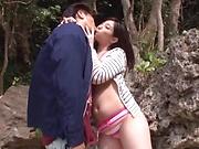 Kinky Mizuka Hayakawa has her boobs fucked