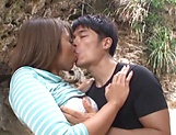 Ayu Sakurai gets her twat rammed outdoors picture 12