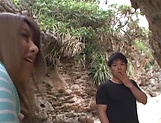 Ayu Sakurai gets her twat rammed outdoors picture 3