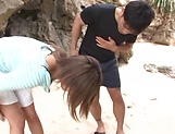 Ayu Sakurai gets her twat rammed outdoors picture 4