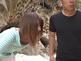 Ayu Sakurai gets her twat rammed outdoors picture 5