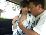 Milky white JP MILF Ki Hanyuu gets banged hard in and out of a car picture 5
