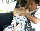 Milky white JP MILF Ki Hanyuu gets banged hard in and out of a car