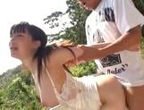 Milky white JP MILF Ki Hanyuu gets banged hard in and out of a car