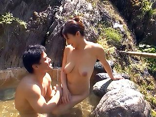 Amazing Asian cougar pleases her young man
