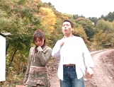 Hot amateur milf China Yuki gets fingered and smacked outdoors picture 11