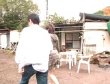 Hot amateur milf China Yuki gets fingered and smacked outdoors picture 13
