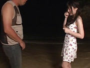 Kitano Nozomi gives some wild blowjob