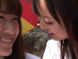 Outdoor lesbian play with Junko Hayama and Kirara Kurokawa picture 12