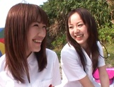 Outdoor lesbian play with Junko Hayama and Kirara Kurokawa picture 3