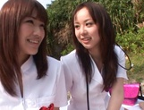Outdoor lesbian play with Junko Hayama and Kirara Kurokawa picture 4