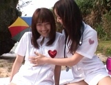 Outdoor lesbian play with Junko Hayama and Kirara Kurokawa picture 5
