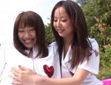 Outdoor lesbian play with Junko Hayama and Kirara Kurokawa picture 7