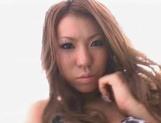 Sweet Japanese AV Model with big tits enjoys rear fuck outdoors