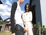 Lustful Japanses gets a doggy slaming outdoors picture 12