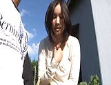 Lustful Japanses gets a doggy slaming outdoors picture 14