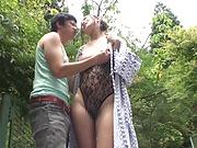Cute mature Reiko Kobayakawa gets her muff rammed