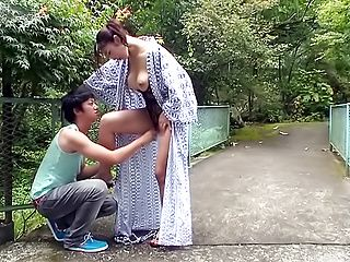 Outdoor sexual fun involving pretty Reiko Kobayakawa