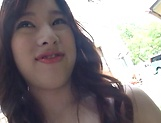 Amazing lady Sakura Chinami nailed outdoors picture 14