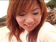 Sensual pov beach fuck with curvy Asian milf Aki Katase
