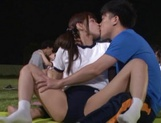 Hot sporty Japanese teen gals have steaming sex on the playground