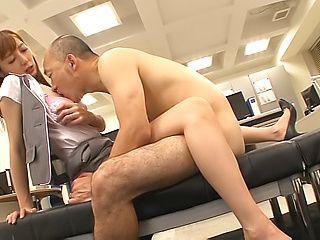 Horny stud loves Fuyutsuki Kaede wet hairy pussy