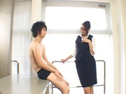 Office lady craves for harsh sex during work hours