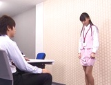 Aino Kishi Asian office lady gives some desktop sex for boss picture 11