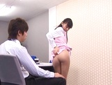 Aino Kishi Asian office lady gives some desktop sex for boss picture 12