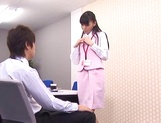 Aino Kishi Asian office lady gives some desktop sex for boss picture 13