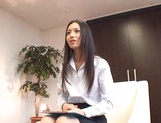 Hot Asian babe Aino Kishi masturbates in front of a guy picture 11