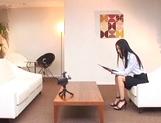 Hot Asian babe Aino Kishi masturbates in front of a guy