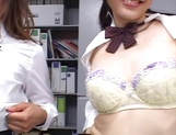 Horny Japanese porn scenes at work with insatiable office milfs