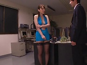 Hatano Yui gets on her knees to give head