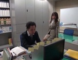 Gorgeous office lady Ayu Sakurai shows off pussy rubbing and rides cock picture 12
