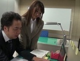 Gorgeous office lady Ayu Sakurai shows off pussy rubbing and rides cock picture 8