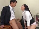 JApanese AV model blows boss for a good raise at work picture 13
