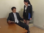 JApanese AV model blows boss for a good raise at work