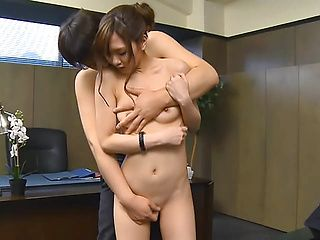 Nono Mizusawa enjoying sex with her boss