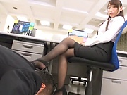 Asian milf likes getting rammed while in sexy stockings